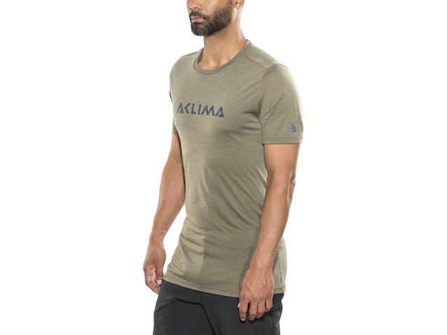 Aclima Lightwool Logo Camiseta Hombre, ranger green
